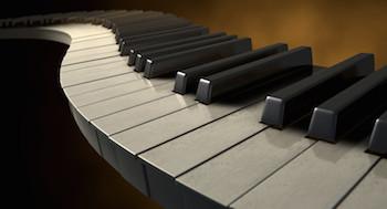 Twisted Piano Keyboard