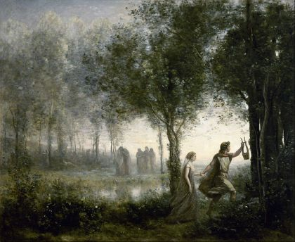 Corot - Orpheus leading Eurydice from the Underworld Wiki Commons