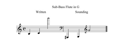 Sub-Bass Flute in G range